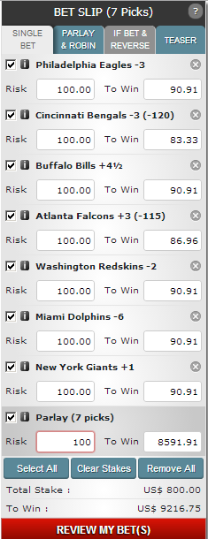 Betting on Some Football