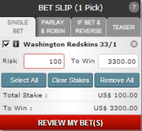 Place a solo Bet on one Team